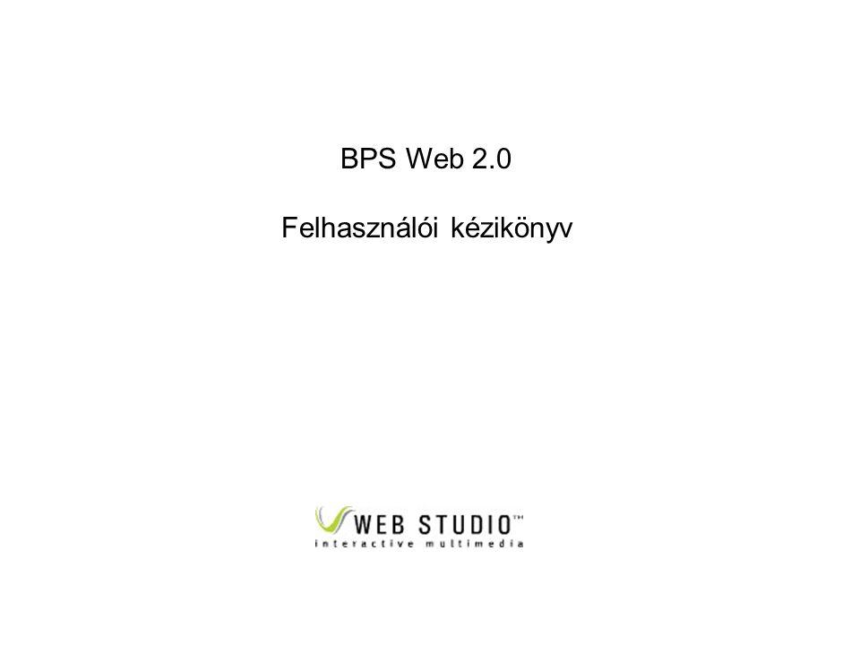 BPS Web 2.0 Felhasználói kézikönyv