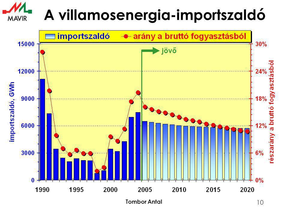 Tombor Antal 10 A villamosenergia-importszaldó jövő