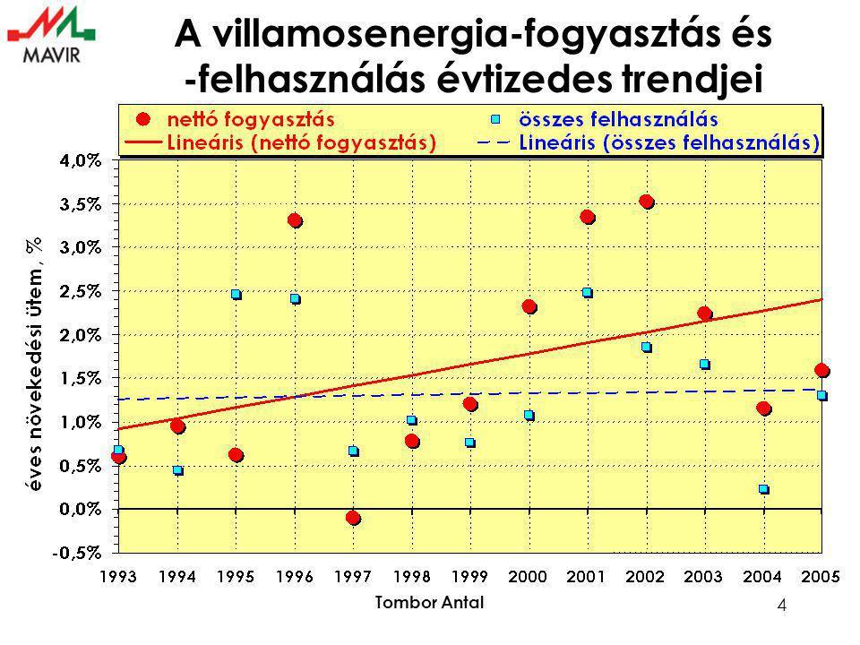 Tombor Antal 4 A villamosenergia-fogyasztás és -felhasználás évtizedes trendjei