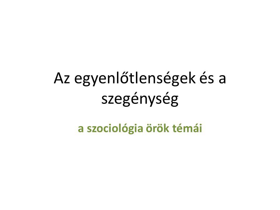 A szociológia fókuszában • A XIX.
