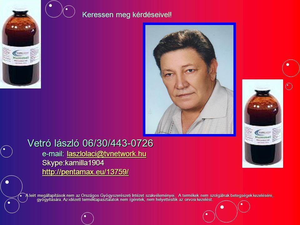 Vetró lászló 06/30/443-0726 Vetró lászló 06/30/443-0726 e-mail: laszlolaci@tvnetwork.hu e-mail: laszlolaci@tvnetwork.hulaszlolaci@tvnetwork.hu Skype:k