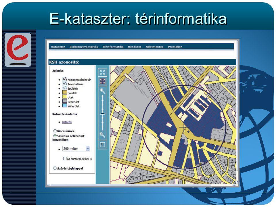 E-kataszter: térinformatika