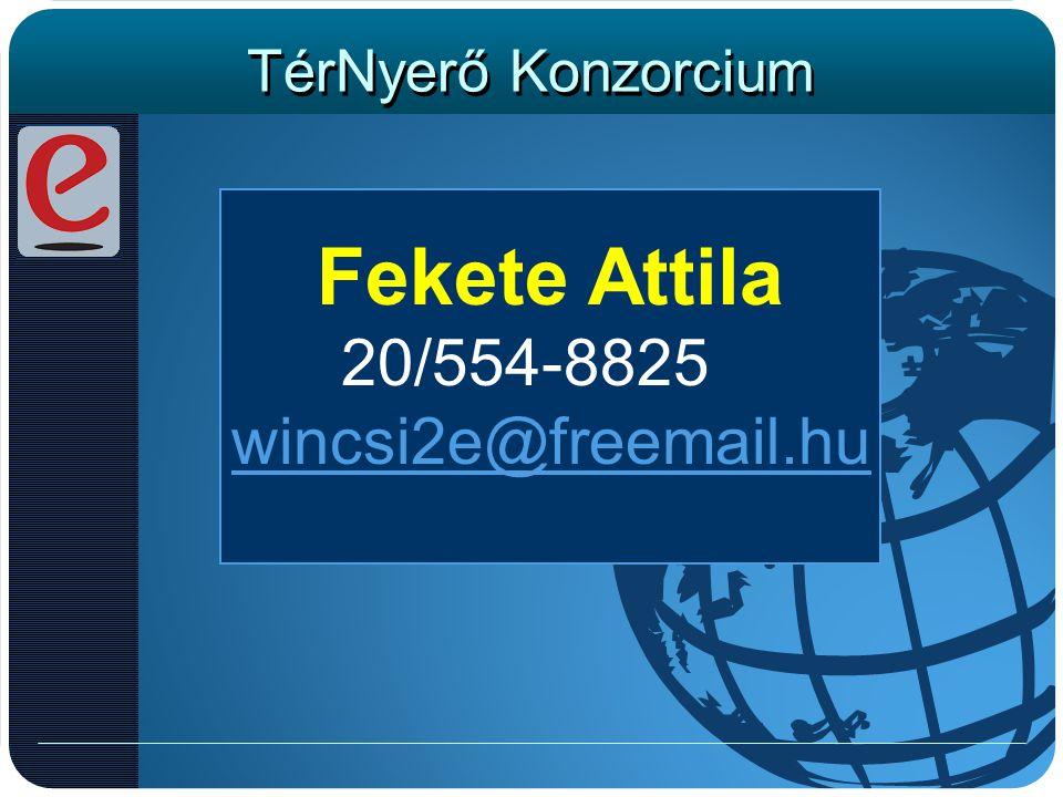Fekete Attila 20/554-8825 wincsi2e@freemail.hu