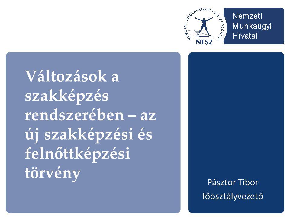 Változások a szakképzés rendszerében – az új szakképzési és felnőttképzési törvény Pásztor Tibor főosztályvezető