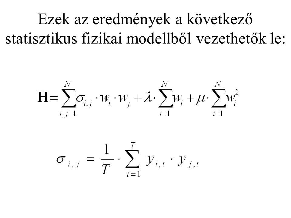 Ezek az eredmények a következő statisztikus fizikai modellből vezethetők le: