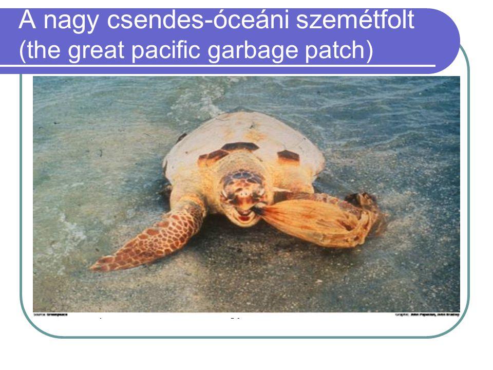  A Csendes-óceán északi részén úszik a víz felszínén a becslések szerint százmillió tonna, javarészt műanyag hulladékból álló szemétfolt. A szemétten