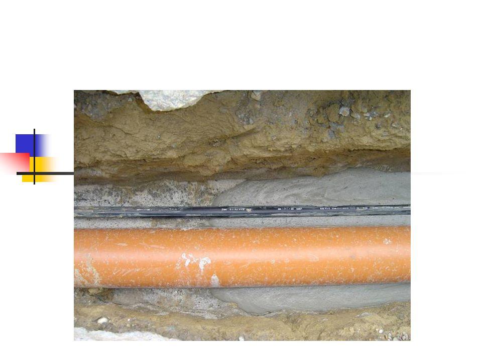  4. Vezetékágyazás:  A habbeton kitűnő ágyazó anyag cső, elektromos, - telefon, - és más fajta vezetékekhez. Az anyag folyékonysága lehetővé teszti