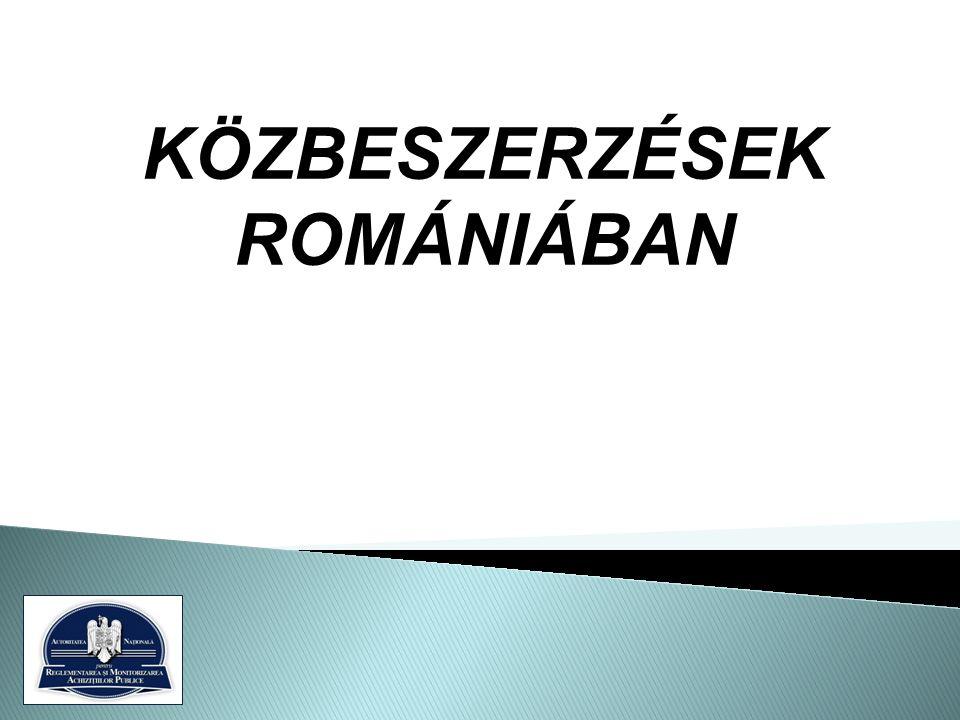 KÖZBESZERZÉSEK ROMÁNIÁBAN