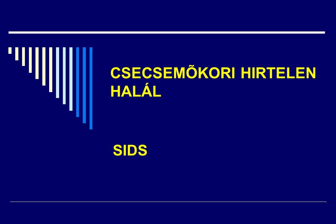 CSECSEMÕKORI HIRTELEN HALÁL SIDS