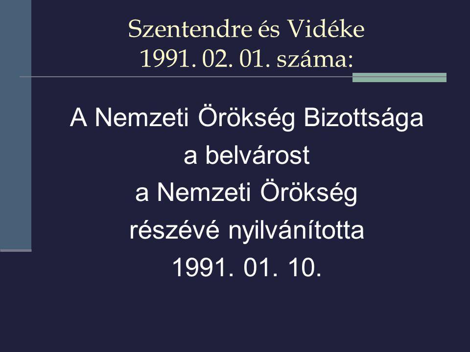 Szentendre és Vidéke 1991. 02. 01.