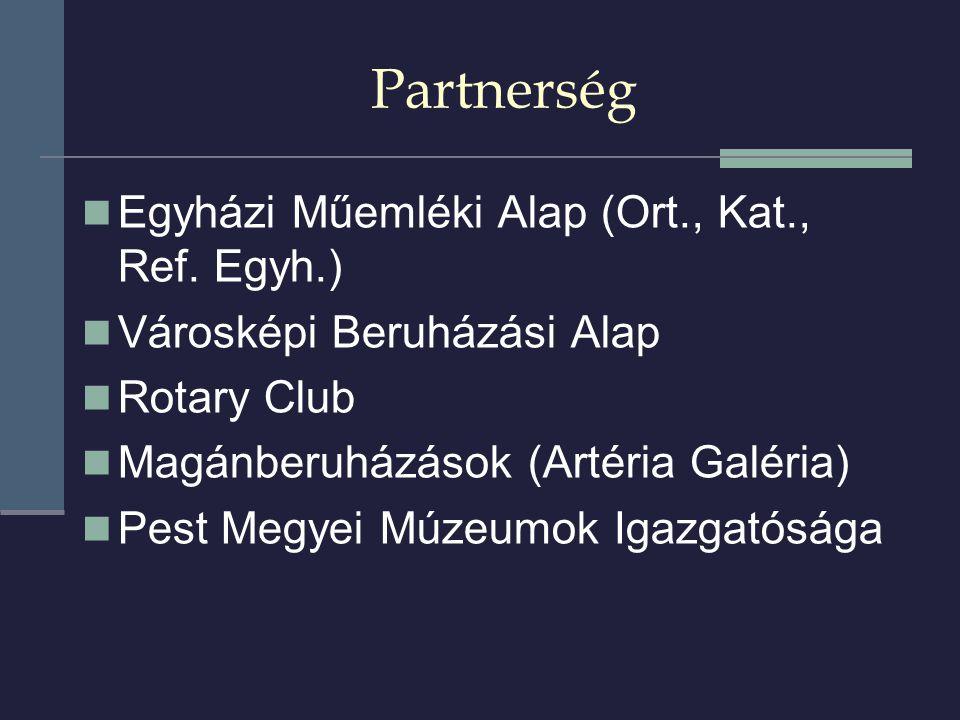 Partnerség  Egyházi Műemléki Alap (Ort., Kat., Ref.