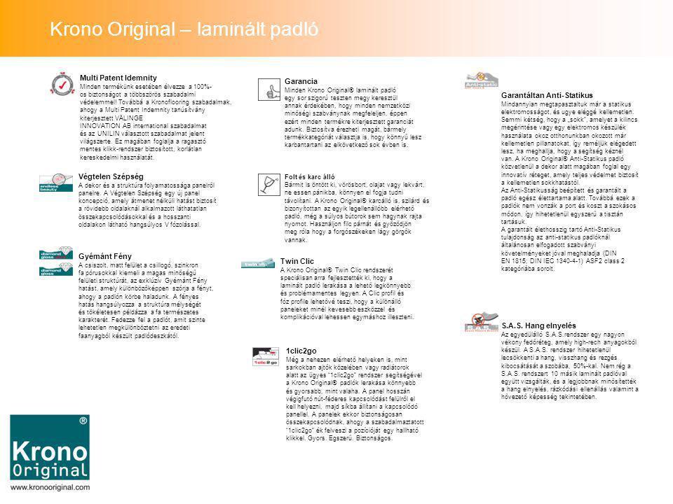 Multi Patent Idemnity Minden termékünk esetében élvezze a 100%- os biztonságot a többszörös szabadalmi védelemmel.