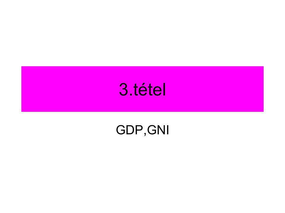 3.tétel GDP,GNI