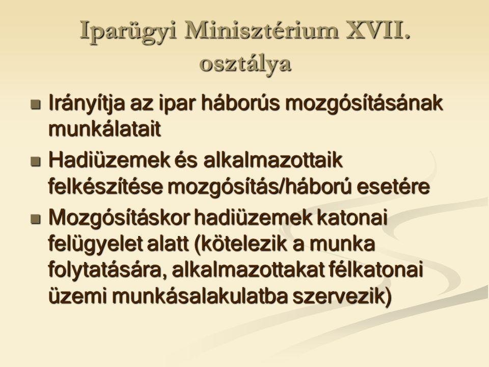 Iparügyi Minisztérium XVII.