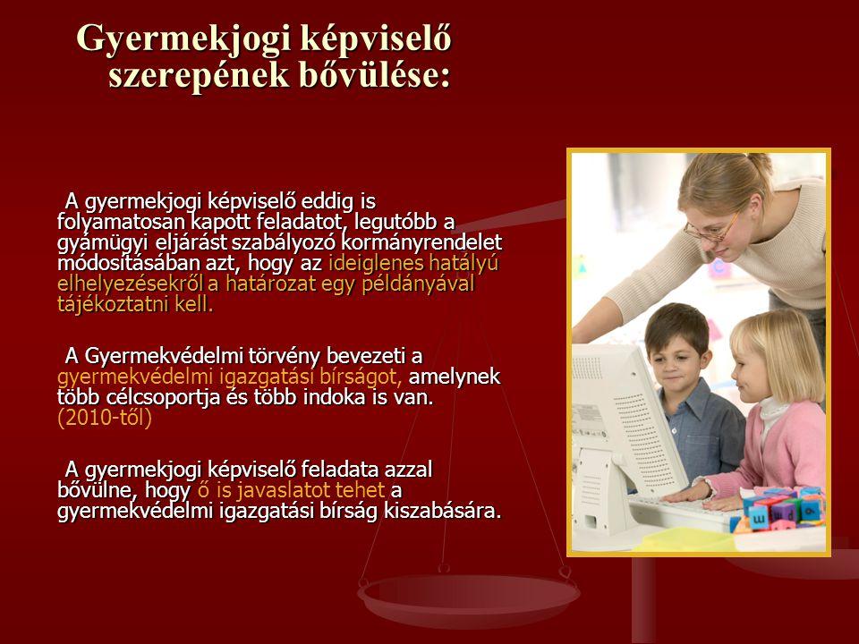A Gyermekvédelmi törvénybe új, 17.§ (4)-(5) került 2009.