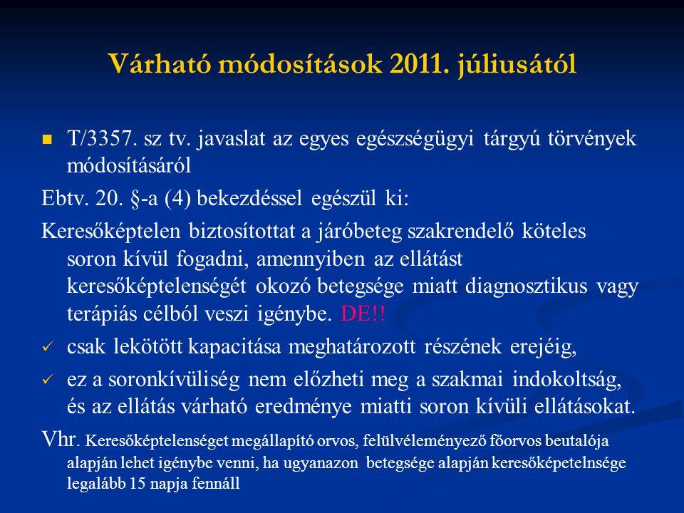 Várható módosítások 2011.júliusától 11.