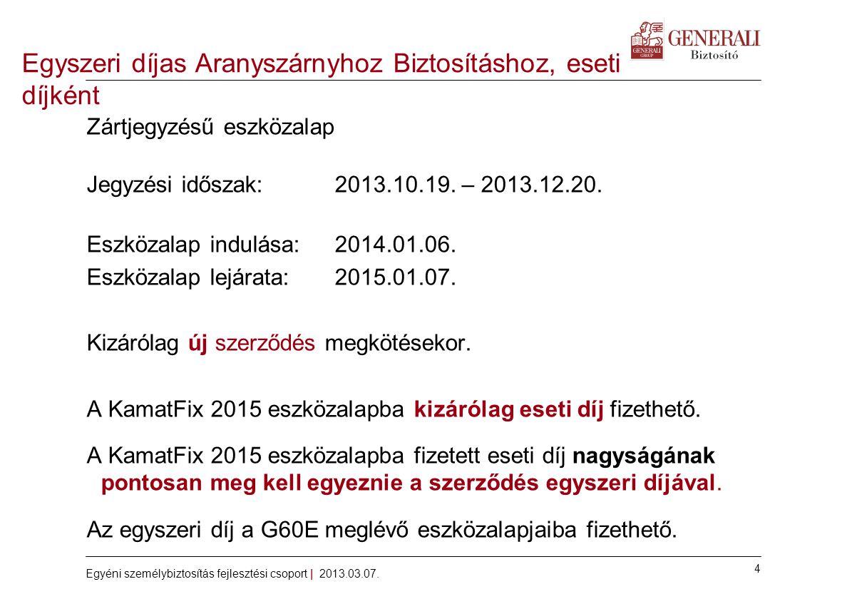 4 Egyéni személybiztosítás fejlesztési csoport | 2013.03.07.