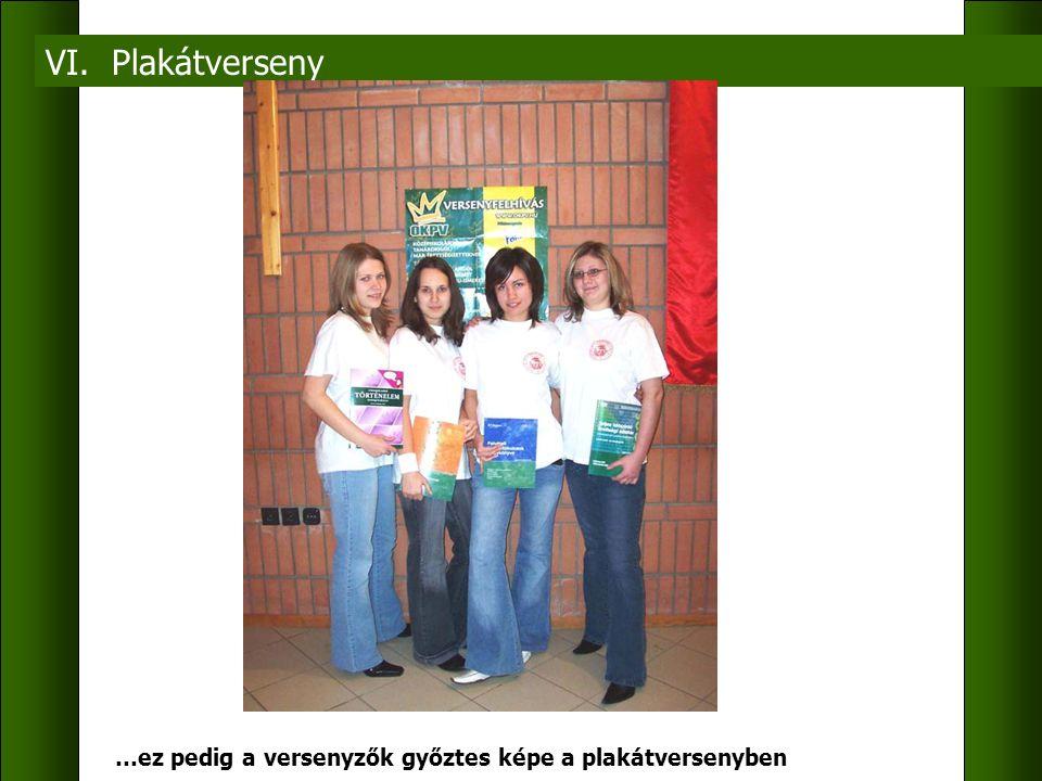 VI. Plakátverseny …ez pedig a versenyzők győztes képe a plakátversenyben