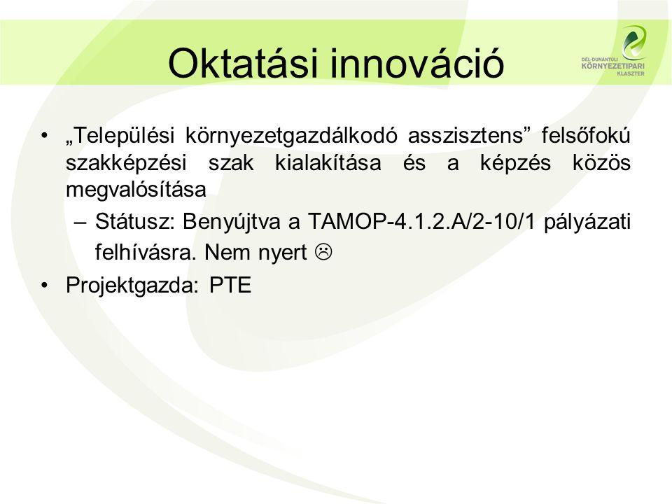 Biomassza és napenergia •Megújuló energia alapú térségfejlesztés a Dombóvári kistérségben –Státusz: KEOP 7.4.3.