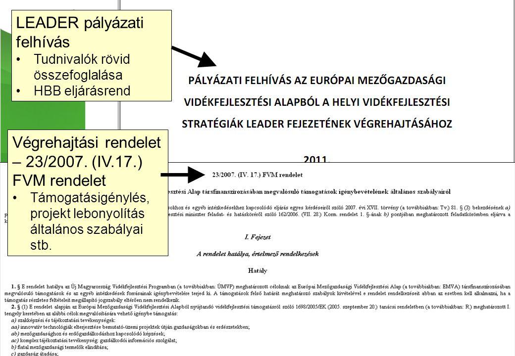 Végrehajtási rendelet – 23/2007.