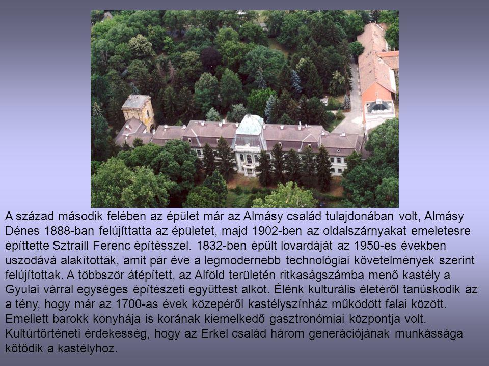 A század második felében az épület már az Almásy család tulajdonában volt, Almásy Dénes 1888-ban felújíttatta az épületet, majd 1902-ben az oldalszárn