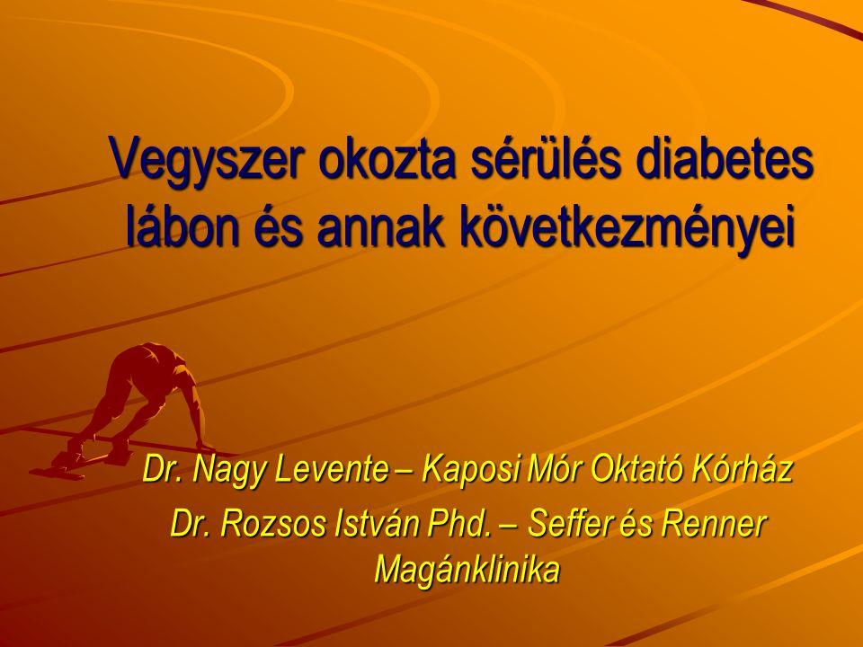 Vegyszer okozta sérülés diabetes lábon és annak következményei Dr. Nagy Levente – Kaposi Mór Oktató Kórház Dr. Rozsos István Phd. – Seffer és Renner M