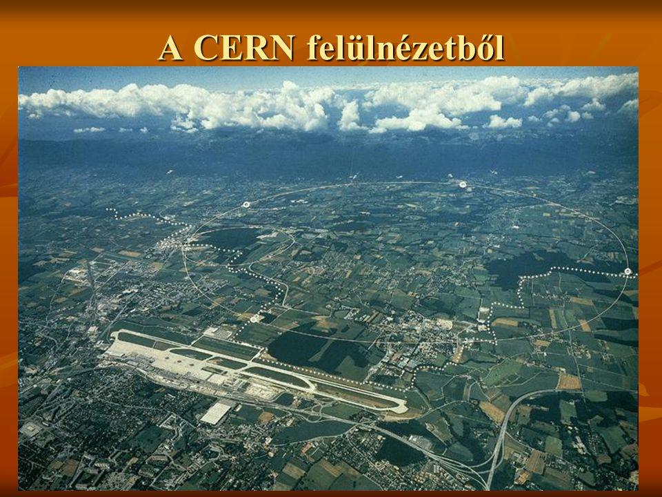 CERN  1954-ben 12 ország alapította  Ma: 20 tagállam  7000-nél több felhasználó a világ minden tájáról