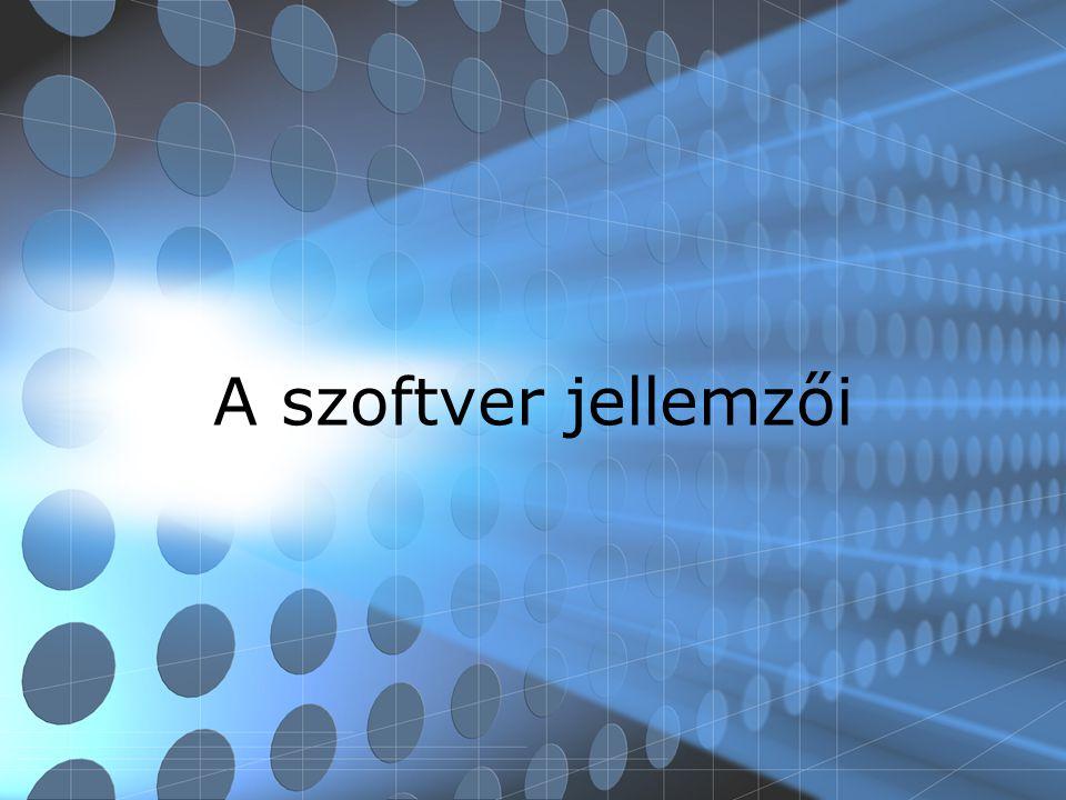 A szoftver jellemzői