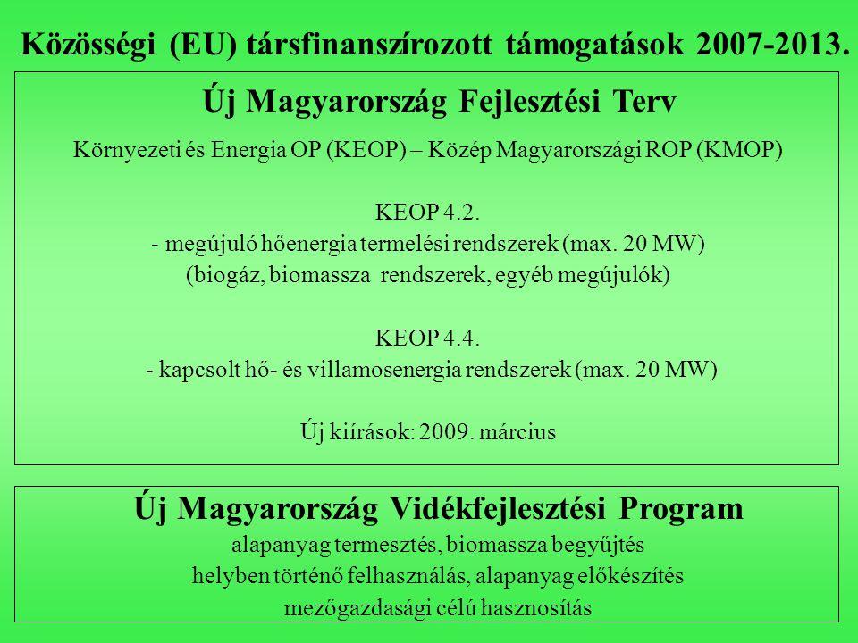 Közösségi (EU) társfinanszírozott támogatások 2007-2013.