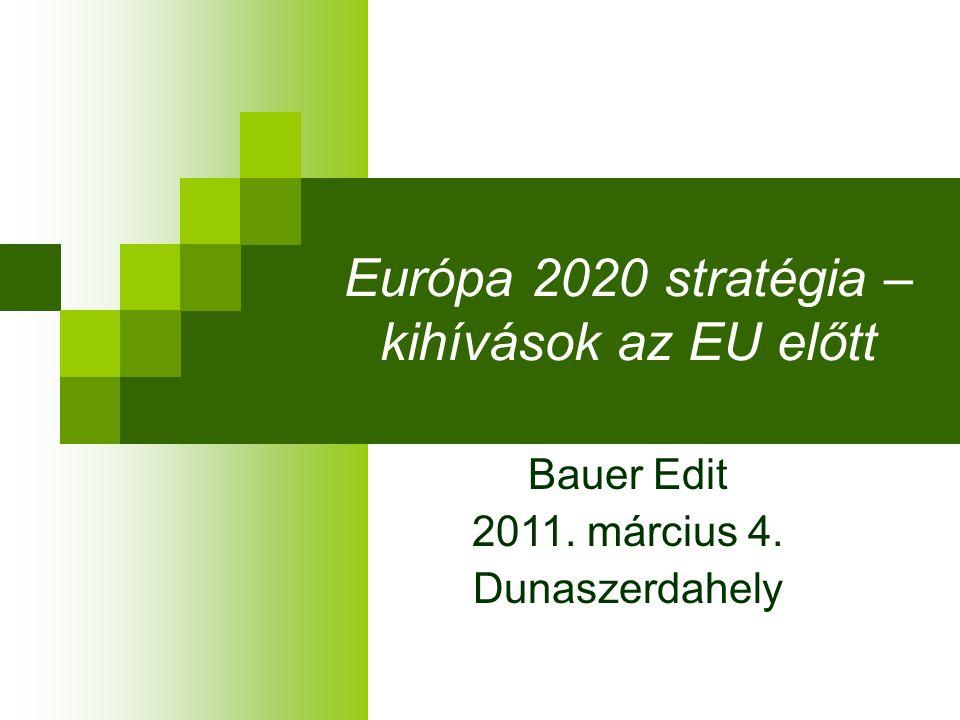 Európa 2020 stratégia – kihívások az EU előtt Bauer Edit 2011. március 4. Dunaszerdahely