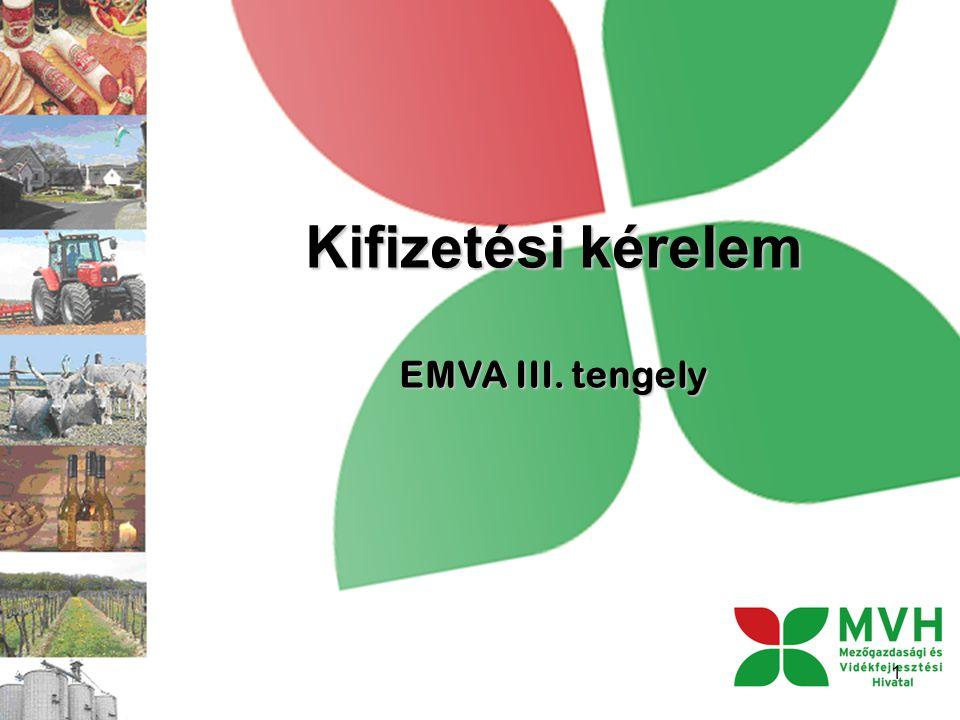 Kifizetési kérelem EMVA III. tengely 1