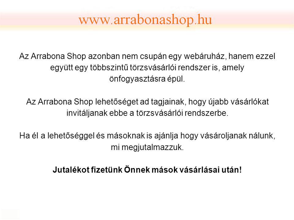 Az Arrabona Shop azonban nem csupán egy webáruház, hanem ezzel együtt egy többszintű törzsvásárlói rendszer is, amely önfogyasztásra épül. Az Arrabona
