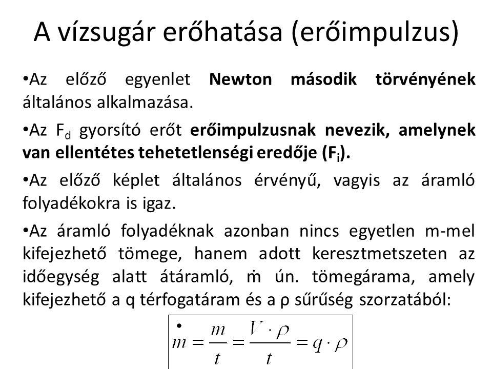 • Az előző egyenlet Newton második törvényének általános alkalmazása. • Az F d gyorsító erőt erőimpulzusnak nevezik, amelynek van ellentétes tehetetle