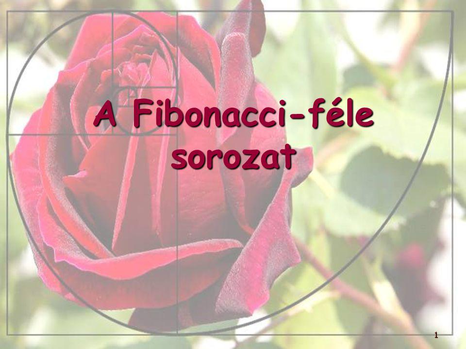 1 A Fibonacci-féle sorozat