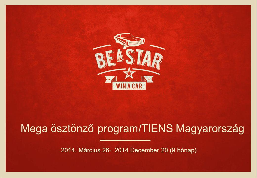 Mega ösztönző program/TIENS Magyarország 2014. Március 26- 2014.December 20.(9 hónap)