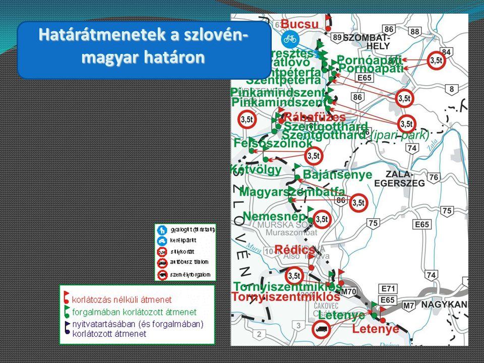 Határátmenetek a szlovén- magyar határon