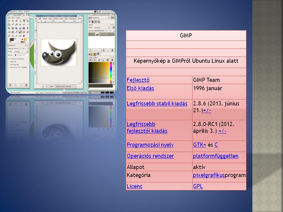 A GIMP egy bittérképes multiplatformos képszerkesztő program, mely támogatja a rétegek kezelését is.