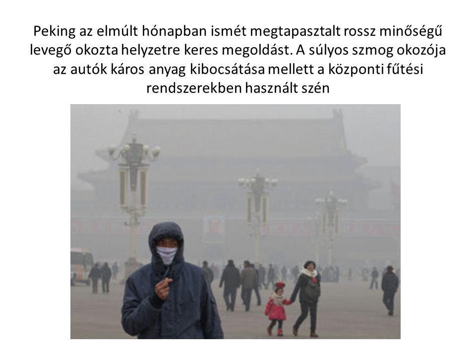 Peking az elmúlt hónapban ismét megtapasztalt rossz minőségű levegő okozta helyzetre keres megoldást. A súlyos szmog okozója az autók káros anyag kibo