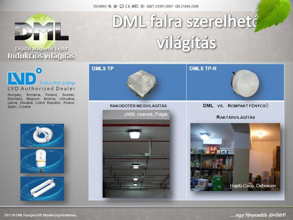 DMLS TPDMLS TP-R RAKODÓTÉR MEGVILÁGÍTÁS DML VS. K OMPAKT FÉNYCS Ő R AKTÁRVILÁGÍTÁS Hungary, Romania, Finland, Sweden, Denmark, Belgium, Estonia, Lithu