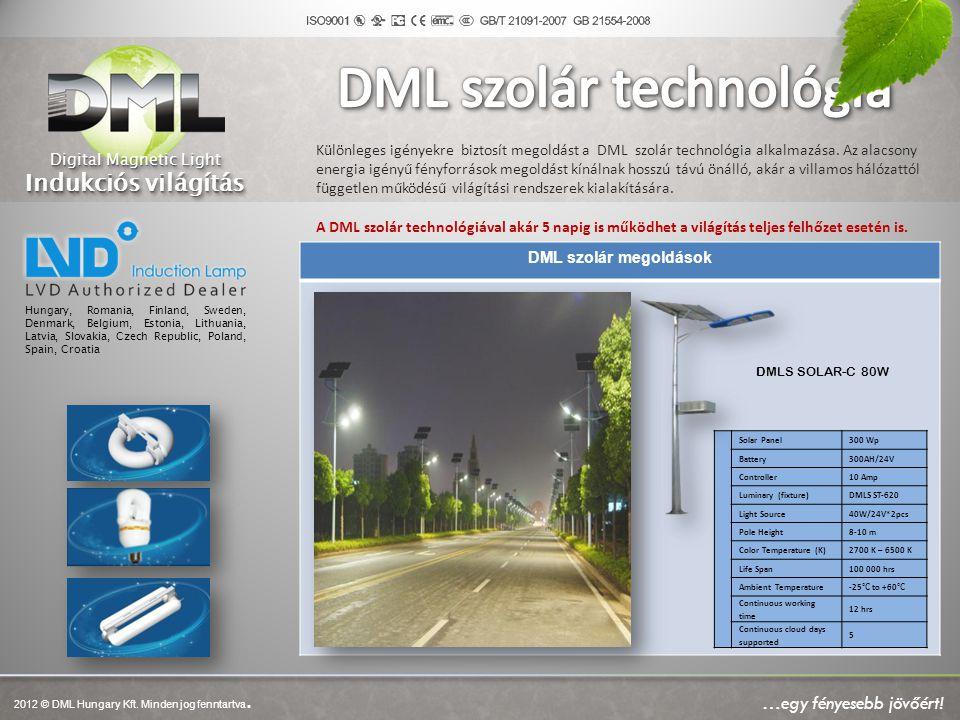 Különleges igényekre biztosít megoldást a DML szolár technológia alkalmazása. Az alacsony energia igényű fényforrások megoldást kínálnak hosszú távú ö