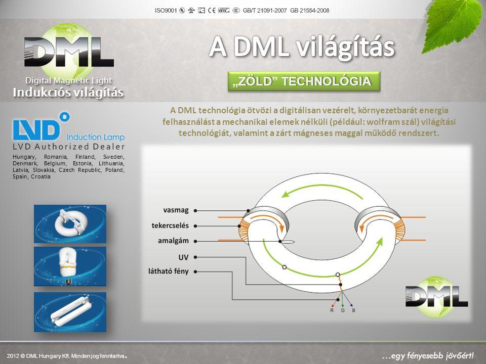 A DML technológia ötvözi a digitálisan vezérelt, környezetbarát energia felhasználást a mechanikai elemek nélküli (például: wolfram szál) világítási t