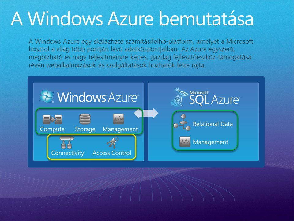 A Windows Azure egy skálázható számításifelhő-platform, amelyet a Microsoft hosztol a világ több pontján lévő adatközpontjaiban.