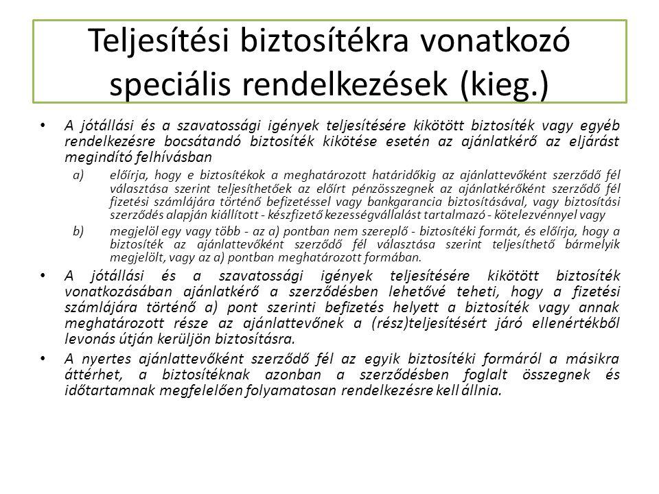 Az ajánlat érvénytelensége A Kbt.74.