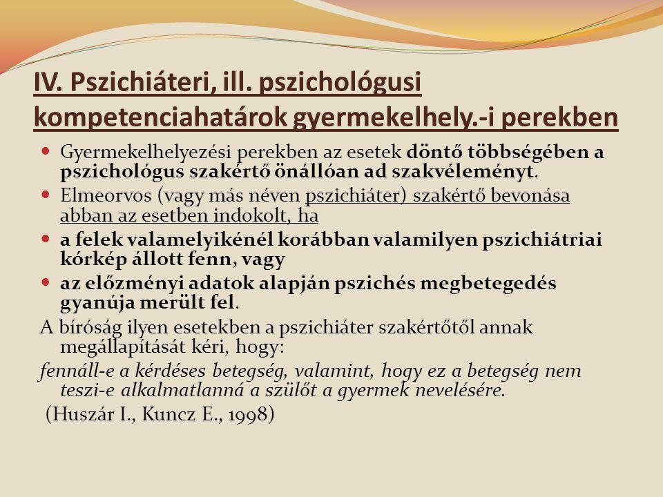 IV.Pszichiáteri, ill.
