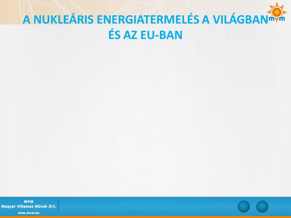 A NUKLEÁRIS ENERGIATERMELÉS A VILÁGBAN ÉS AZ EU-BAN