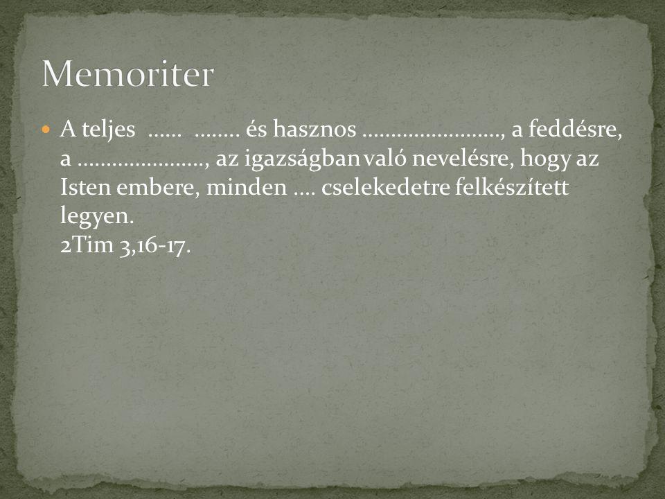 A teljes …… ……..