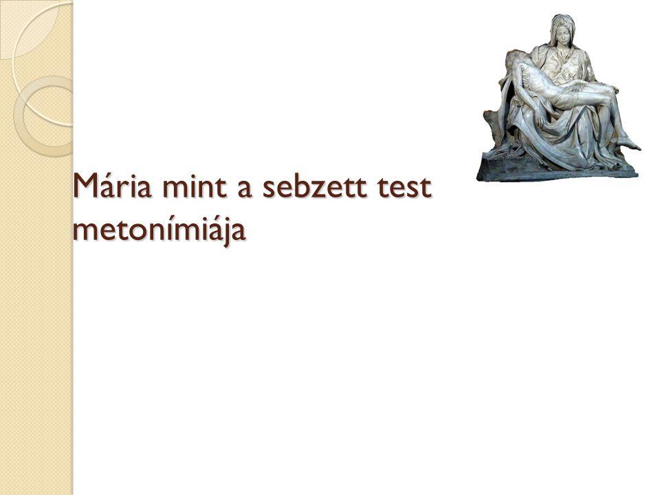 Mária mint a sebzett test metonímiája