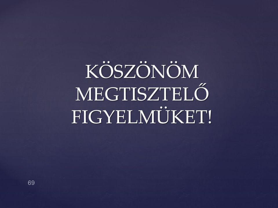 KÖSZÖNÖM MEGTISZTELŐ FIGYELMÜKET! 69