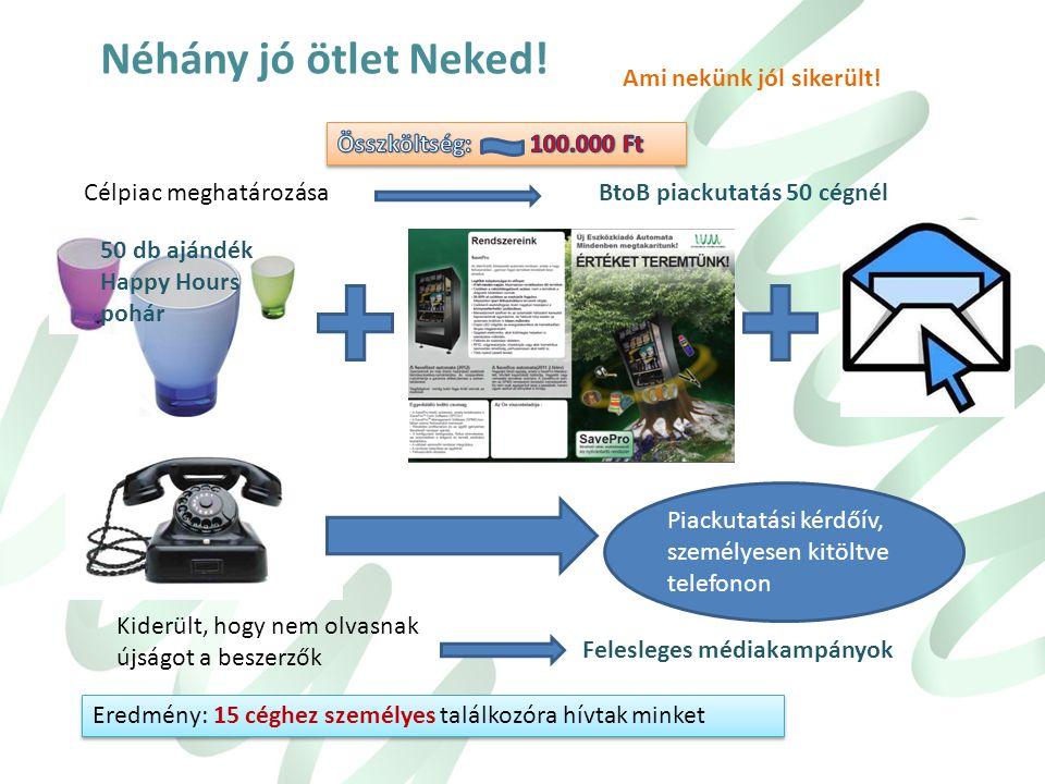  Felépíteni egy új céget, kifejlesztve egy 100% magyar tulajdonú és gyártású, világszínvonalon működő rezsi anyag és eszközadagoló automatát  Megtal