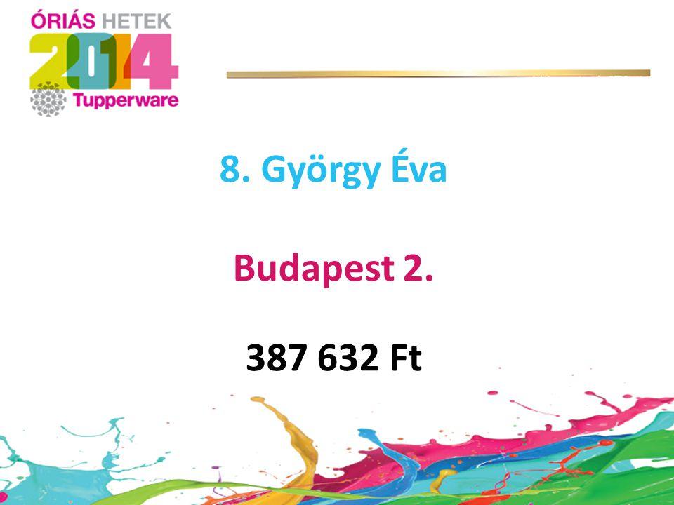 8. György Éva Budapest 2. 387 632 Ft